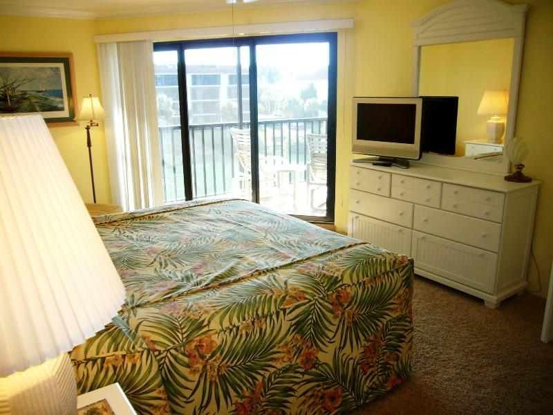 Master Bedroom Opens onto Screened Lanai - Sanibel Island Luxury 2B/2B Beach Front Condo - Sanibel Island - rentals