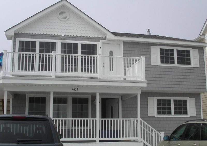 front porch view - Brigantine....Just One House from the Beach! - Brigantine - rentals