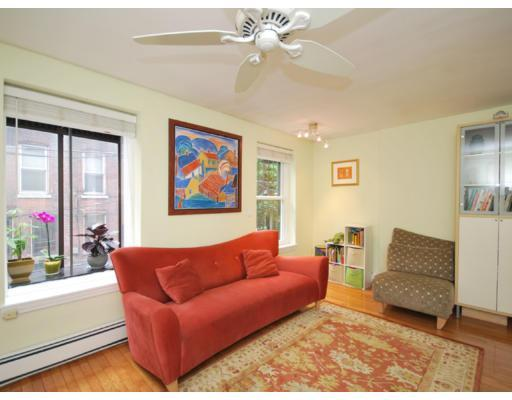 Sun-filled living room with flat-screen TV - Historic South End- Steps to Everything 2 BR condo - Boston - rentals