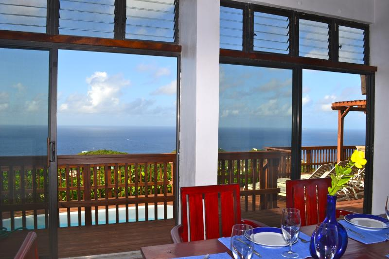 The view from dining room - Amazing Ocean views at Villa Mar de Amores - Saint John - rentals