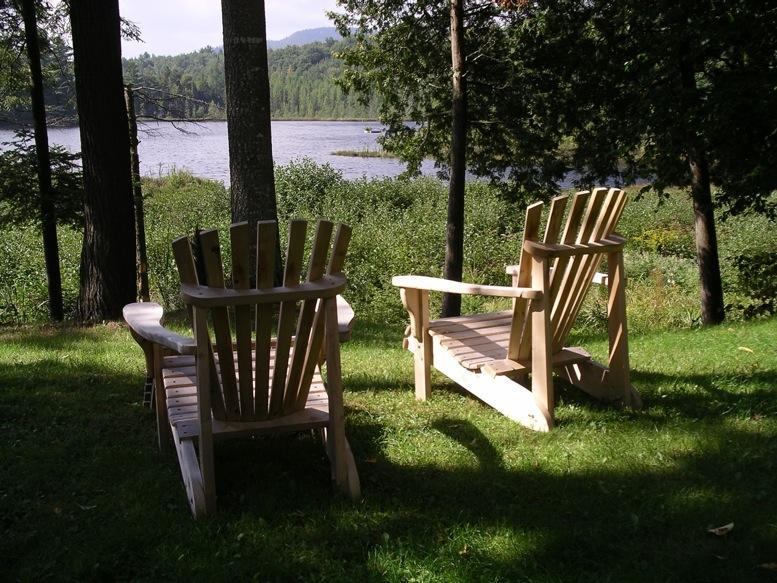 Adirondack chairs overlooking pond and wetland - Nature Lovers Paradise - Paul Smiths - rentals