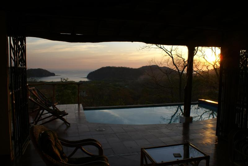 Great room looking out toward view of pool and bay - Stunning San Juan Del Sur  Nicaragua  House Rental - San Juan del Sur - rentals