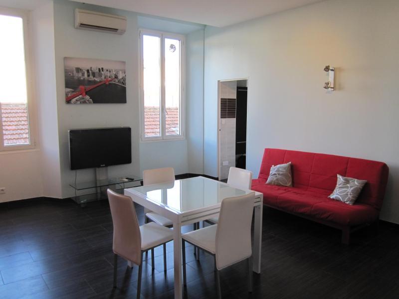 2 beds flat, balcony, wifi, ac, Garibaldi square - Image 1 - Nice - rentals