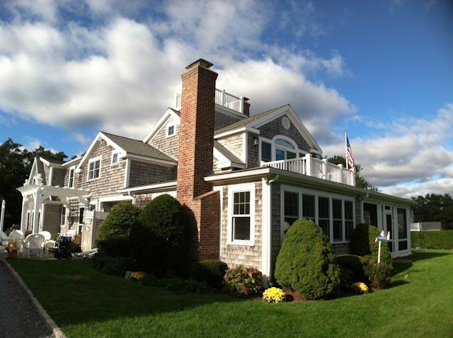 Backyard Side View - Beautiful Cape Cod Compound Walk to Beach - HA0404 - Harwich - rentals