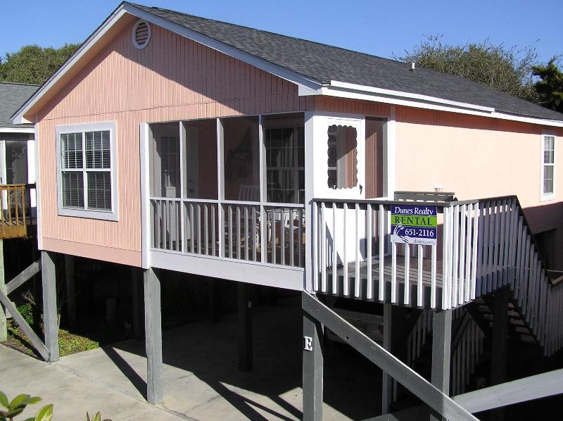 Front of House Faces South - Sunset Square - Steps from Beach w/ Pool - Garden City Beach - rentals