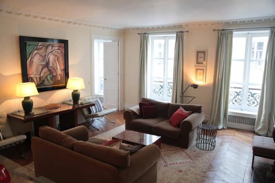 Living Room - Large and Stylish 9th Floor 3 Bedroom Apartment - Paris - rentals