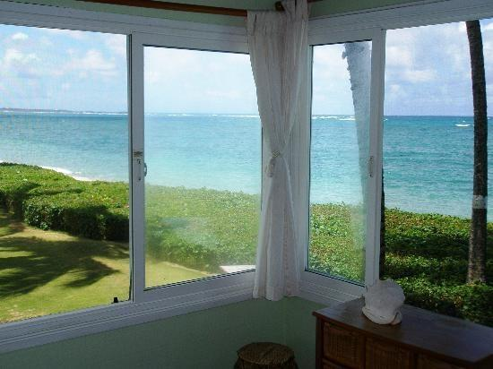 Postcard Perfect views from the bedroom and living room windows - Hawaiian Sunrise Beach Cottage/Beachfront Perfect! - Hauula - rentals