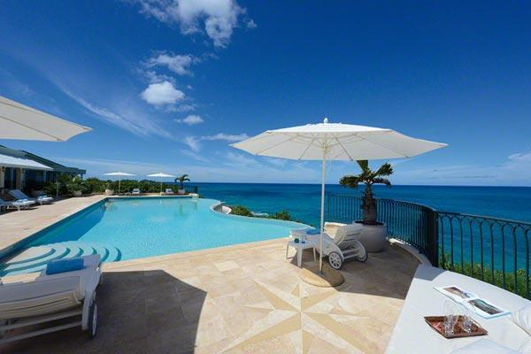 Cliff-side, waterfront villa with VIEWS! C DAC - Image 1 - Terres Basses - rentals