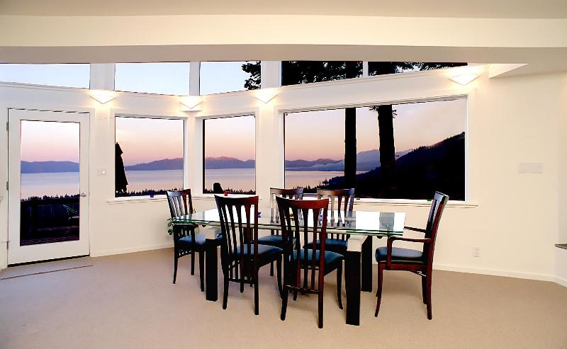Dining Room with Lake View - Spectacular Lake Tahoe View Contemporary Home - Tahoe City - rentals