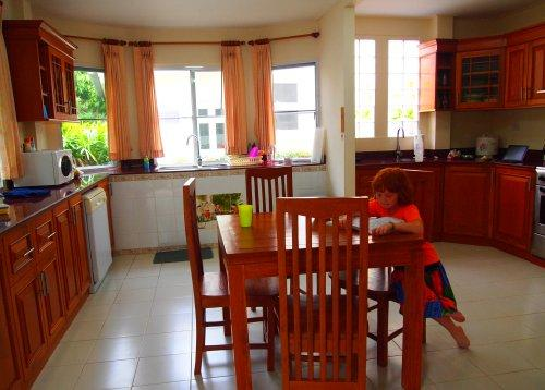 HUGE kitchen with Western dishwasher, stove, gridge, washer/dryer. Pots, dishes, kitchen tools. - Western Kitchen & Baths. Two Security Gates. - Chiang Mai - rentals