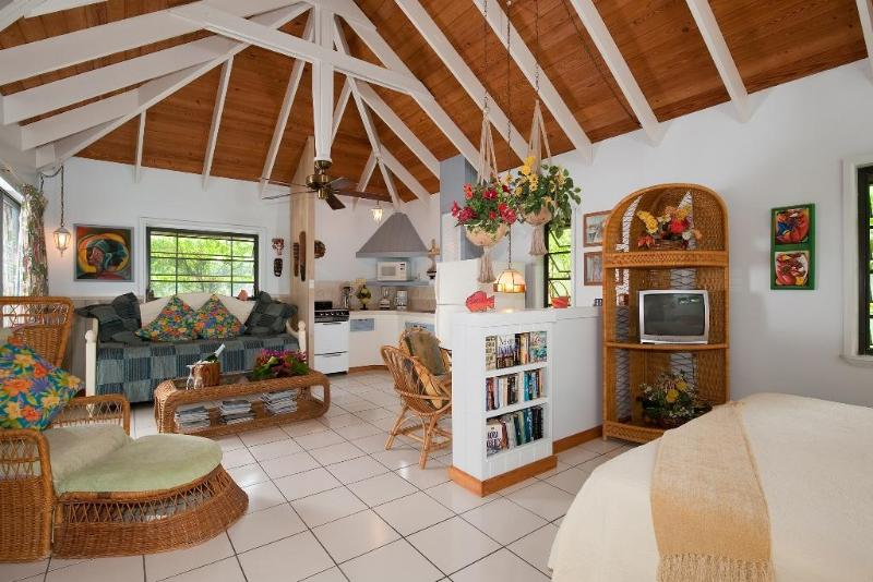 Cottage interior with cathedral ceilings. - South Fleetwood Private Villas at Grace Bay Beach - Providenciales - rentals