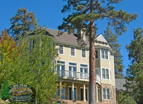 Back View Of Four Seasons - Four Seasons Lakefront Cabin you can take advantage of this updated and luxurious lakefront Vacation Cabin in Big Bear with boat dock, wifi, and beautiful lake views. - Big Bear Lake - rentals