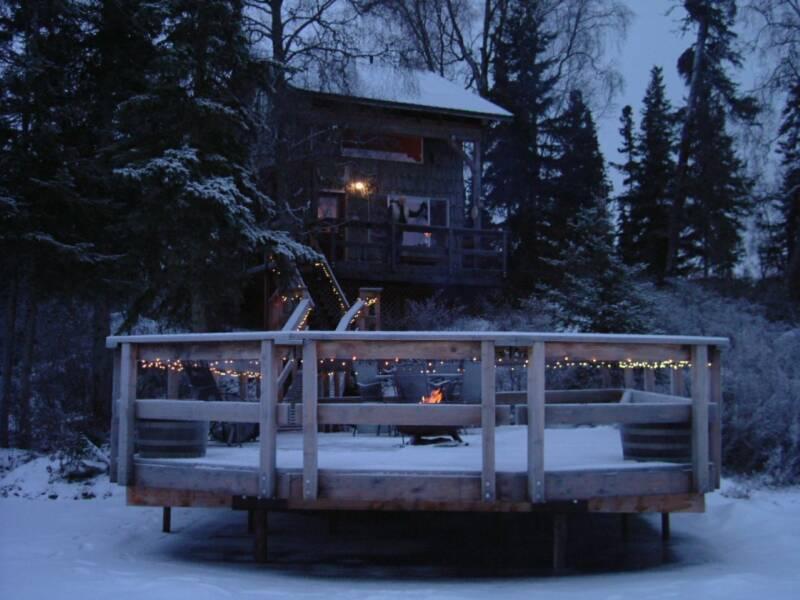 Winter Night - Escape for Two- Moose Cabin - Soldotna - rentals