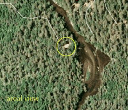 Aerial view of property - Secluded Brule River, Wisconsin, three BR lodge - Brule - rentals