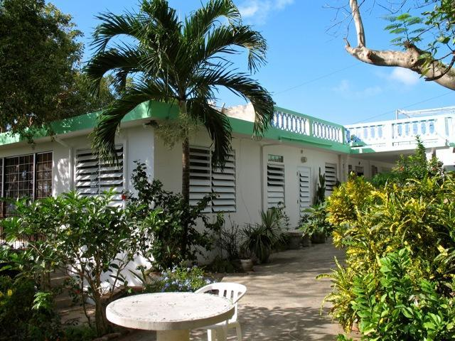 Garden looking toward carport and house - Casa Mariposa - Top of Hill Overlooking Ocean - Isla de Vieques - rentals