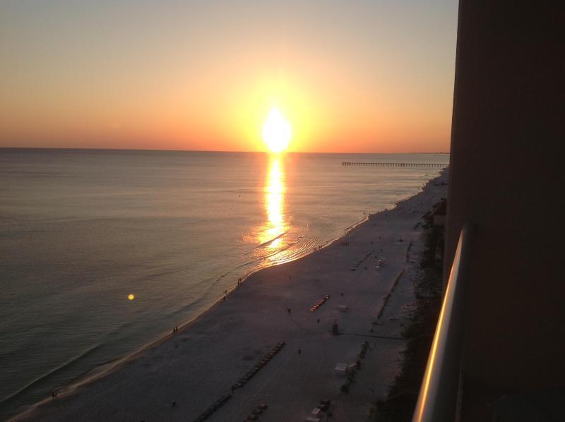 sunset on balcony April 2013 - Majestic Beach Twr-Panama City Beach. - Panama City - rentals