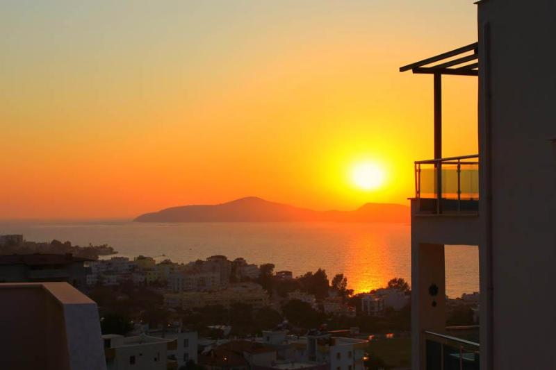 Sunset view from Flipflops - Penthouse on the Aegean, sleeps 6, Gulluk, Turkey - Gulluk - rentals
