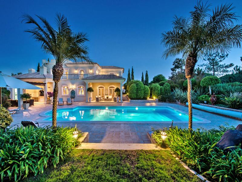 Pool terrace and gardens - Quinta do Lago Villa. Genuine 5 Star Property - Quinta do Lago - rentals