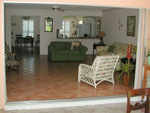 View from Lanai of Living Room & Kitchen - 2 Bedroom home in golf community - Englewood - rentals