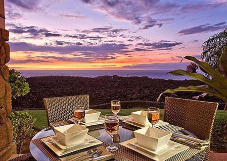 A Majestic Kona Sunset from our Waikoloa Rental - Oceanfrt 2br Condo-Halii Kai-14C clean/resort Incl - Waikoloa - rentals