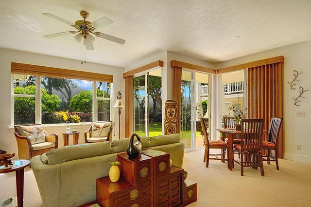 A Great room awaits you. - Beautiful, Spacious Two Bedroom in Princeville - Princeville - rentals