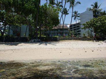 our private beach - Romantic Oceanfront Studio Condo In Downtown Kona - Kailua-Kona - rentals