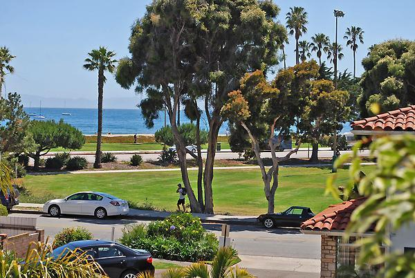 Master Bedroom Balcony View - Beautiful East Beach home 400 steps to the Pacific - Santa Barbara - rentals
