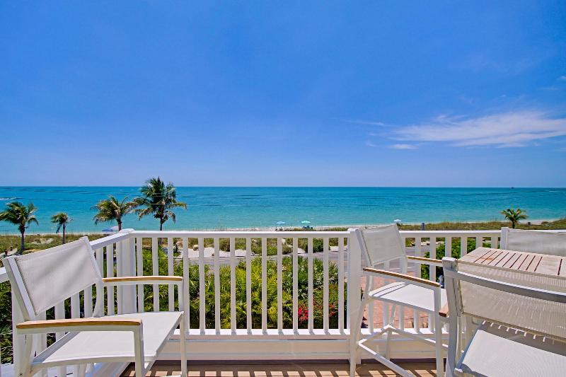 Enjoy 180 degree views from the new Master Suite balcony - Luxury Beach Front Villa with Pool, Captiva Island - Captiva Island - rentals