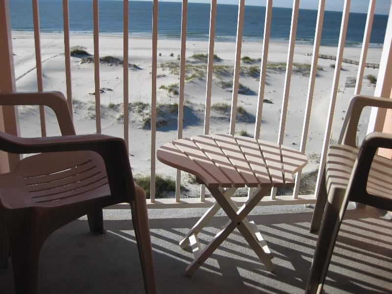 """Early Morning Balcony View - Couples Call It """"Perfect""""! - Gulf Shores - rentals"""