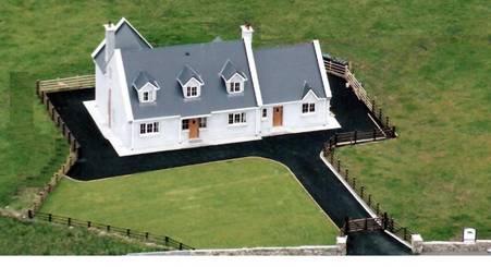 Aerial View of Beach House, enclosed garden, tarmacadam drive around. - On the Wild Atlantic Way - Luxury House at Beautiful Aughris -Pet Friendly - Sligo - rentals
