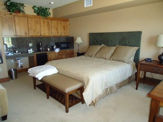 Oversized Studio with King Bed - Lodge 220 - Lodge Suite with Kitchenette, Fireplace, King Bed and Queen Sleeper. One Bath. Sleeps 4. - Tamarack Resort - rentals