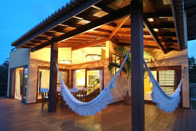 Villa Terrace at Dusk, Pipa Brazil - Luxury Villa + Pool in Pipa, Brazil - Pipa - rentals