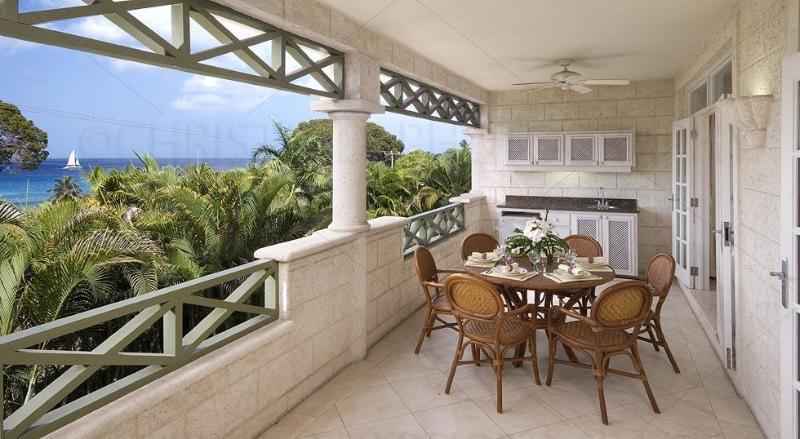 Unit 103 - Patio - Summerland Villas Unit 103, 3 Bdrm, Oceanview - Prospect - rentals