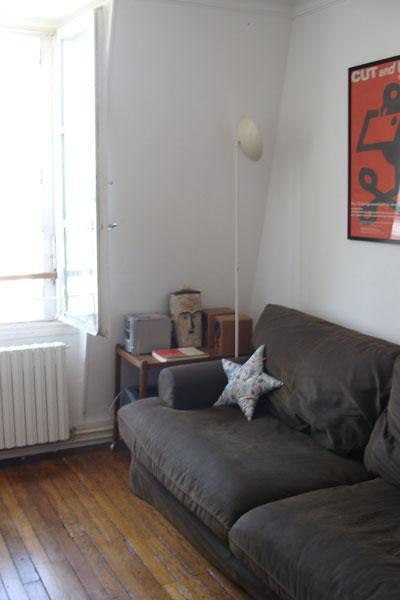 Living room - Authentic charm, views over all Paris, 3 rooms - Paris - rentals