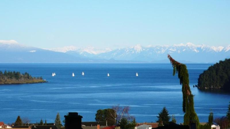 View of the Channel and Coastal Mountains from the property - Nanaimo Departure Bay Vacation Rental - Nanaimo - rentals