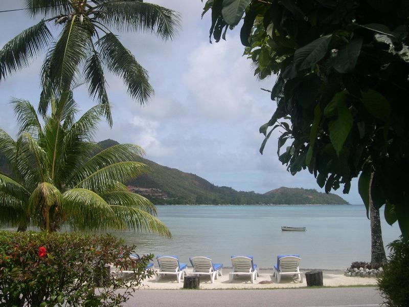 beach front with sunbeds - Villa with Sea View and swimming Pool - Praslin Island - rentals