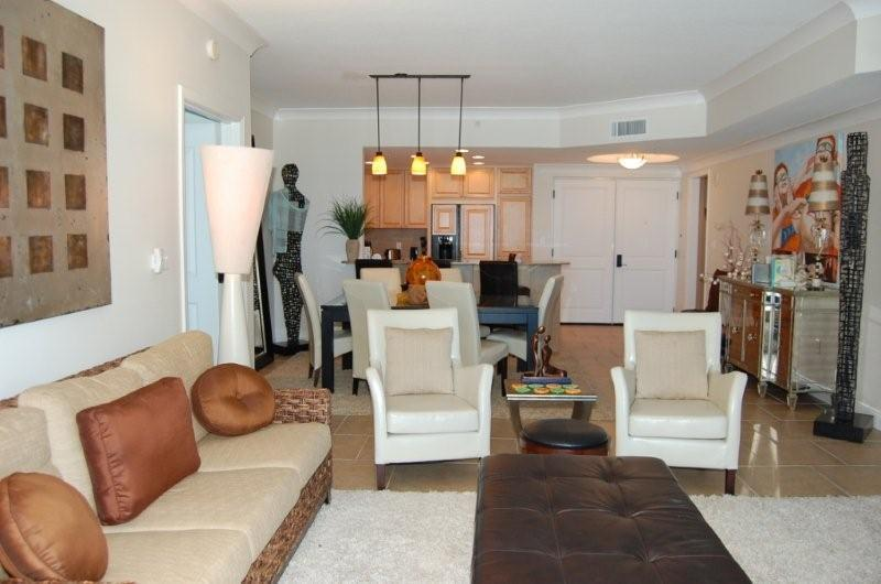 Living Room - Portofino Tower 4 Skyhome 1105 - Pensacola Beach - rentals