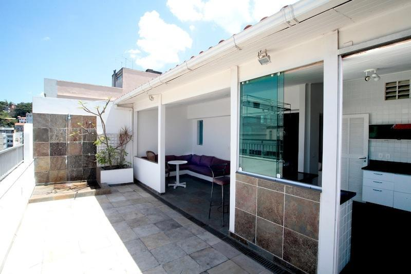Outdoor Balcony and outdoor living room - 3 Bedrooms 4 bath Penthouse apt in Copacabana close to the beach! - Rio de Janeiro - rentals