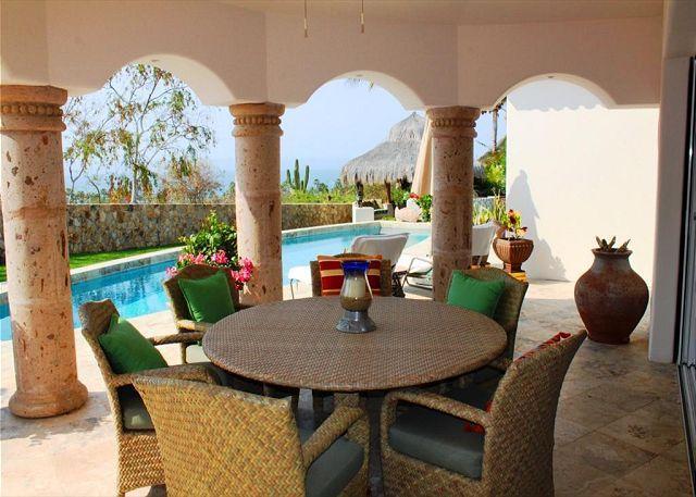 Covered Terrace Seating - Casa La Calma 4 Bedroom Ocean & Golf Course View Cabo del Sol - Cabo San Lucas - rentals