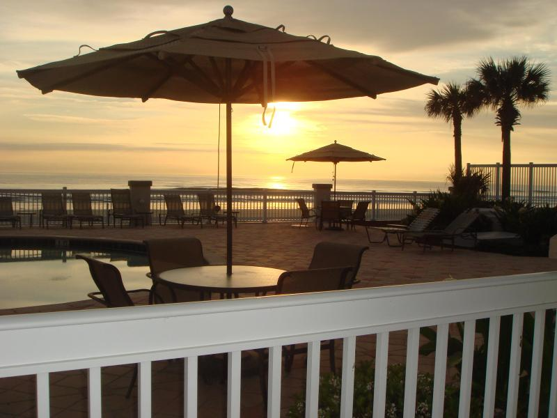 View from the Units Padio - Oceanfront Suite, Ground Level and an AWESOME View - Daytona Beach - rentals