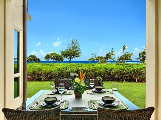 Oceanfront View on Lanai - Waipouli Beach Resort G104 - Kapaa - rentals