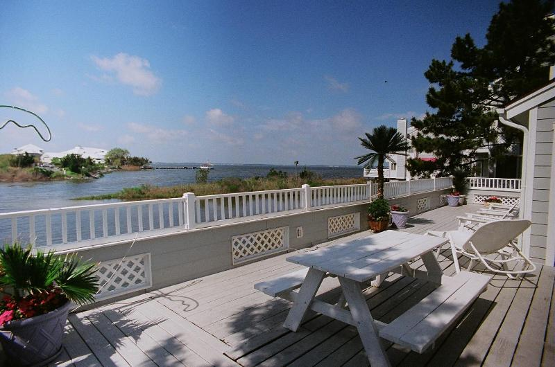 50\' Deck has beautiful bay views - Gorgeous Bay Front House - Ocean City - rentals