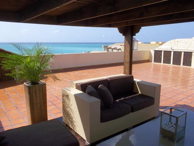 The best roof terrace in the complex! - Amber Penthouse Two-Bedroom condo - P512 - Eagle Beach - rentals
