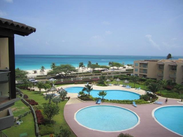Breathtaking view from your balcony!! - Tropical Penthouse One-bedroom condo - BG532 - Eagle Beach - rentals