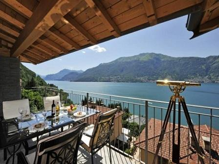 Sunny Alfresco Dining - Bella Dorio - 2 bed penthouse apartment Lake Como - Dorio - rentals