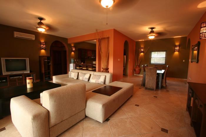 living room groundfloor condo - Luxury 3 bdr Center CABARETE Beachfront Residence - Cabarete - rentals