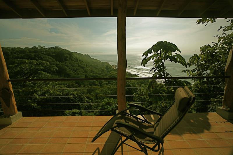 This is wide angle the water is closer looking - Wow whitewater view 200mtrs to Montezuma/beach - Montezuma - rentals
