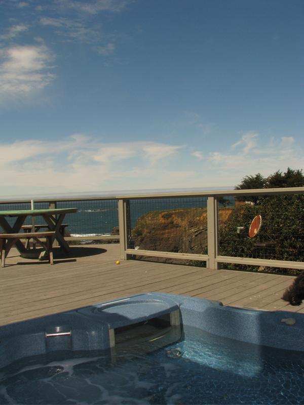 Hottub with a view - Kid Friendly, Ocean Front Home - Gualala - rentals