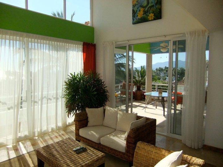 "Living Room - Penthouse condo in the ""Golden Zone"" of Bucerias - Bucerias - rentals"