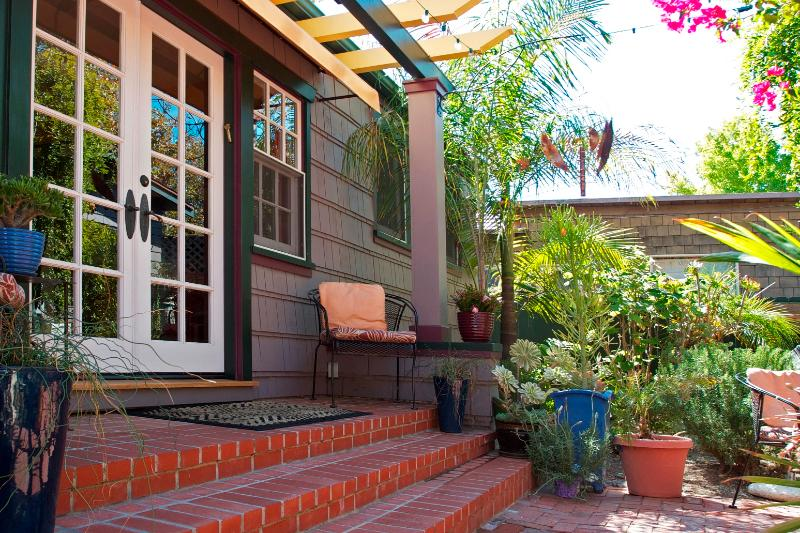 Middle Unit Entrance with double french doors - Casitas de Colores Fabulous Downtown Style - Santa Barbara - rentals